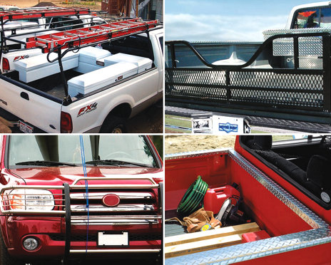 some of the different accessory options available on pickup trucks