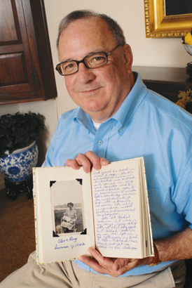 Ray Floyd with his mother's journal