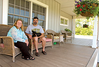 Dave and Marsha on their front porch