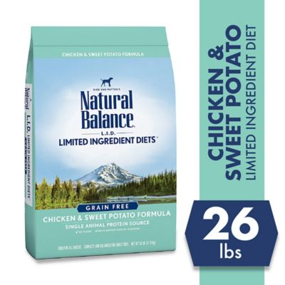 Natural Balance L.I.D. Limited Ingredient Diets Chicken & Sweet Potato Formula Dry Dog Food; 26 lb. Bag