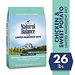 Natural Balance L.I.D. Limited Ingredient Diets Chicken & Sweet Potato Formula Dry Dog Food, 26 lb. Bag