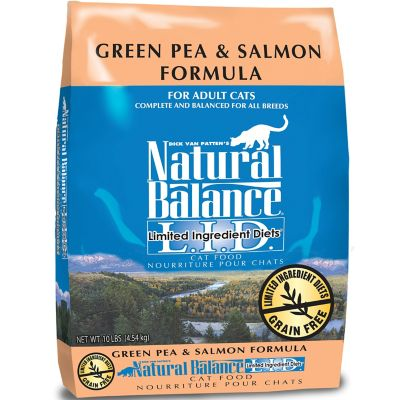Natural Balance L.I.D. Limited Ingredient Diets Green Pea & Salmon Formula Dry Cat Food; 10 lb.