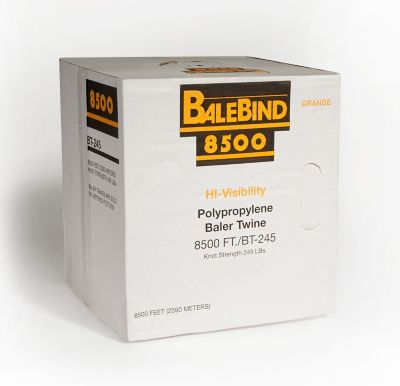 Balebind Polypropylene Baler Twine; 8;500 ft./245 lb. Knot Strength; Orange