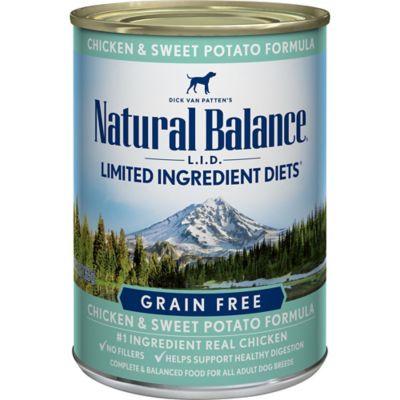 Natural Balance L.I.D. Limited Ingredient Diets Chicken & Sweet Potato Formula Wet Dog Food; 13 oz. Can