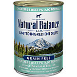 Natural Balance L.I.D. Limited Ingredient Diets Chicken & Sweet Potato Formula Wet Dog Food, 13 oz. Can