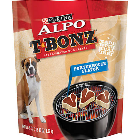 Purina ALPO TBonz Porterhouse Flavor Dog Treats, 45 oz. Pouch