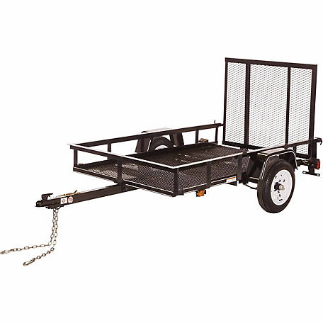 Carry-On Trailer 4 ft. x 7 ft. Open Mesh-Floor Utility Trailer