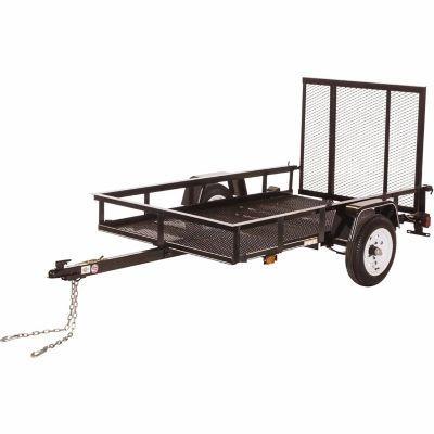 carry on trailer 4 ft x 7 ft open mesh floor utility trailer at rh tractorsupply com 7 Pole Trailer Wiring Diagram Tractor-Trailer Wiring Harness Diagram