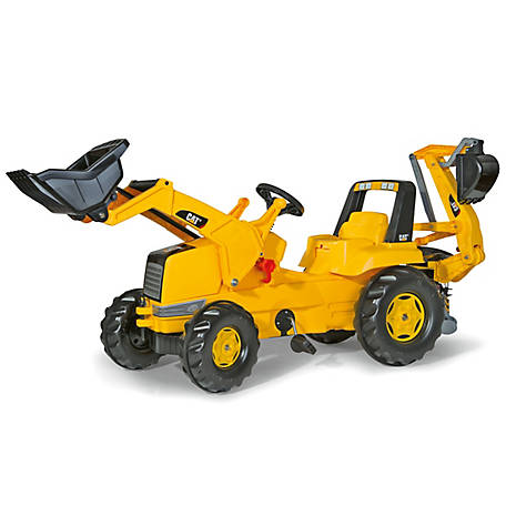 Kettler Cat Pedal Tractor With Front Loader & Backhoe