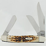Case Cutlery Stockman Knife, Amber Bone