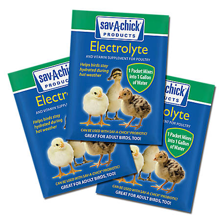Sav-A-Chick Electrolyte & Vitamin Supplement, 0.25 oz., Pack of 3, 01-7451-0202