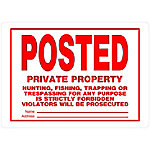 Hillman The Group Aluminum-Posted No Trespassing Sign, 10 in. x 14 in., 840159