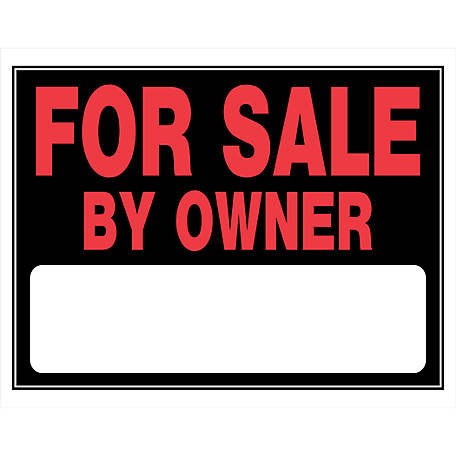 Hillman For Sale By Owner Sign, 15 in. x 19 in.