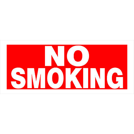 Hillman Plastic No Smoking Sign, 6 in. x 15 in.
