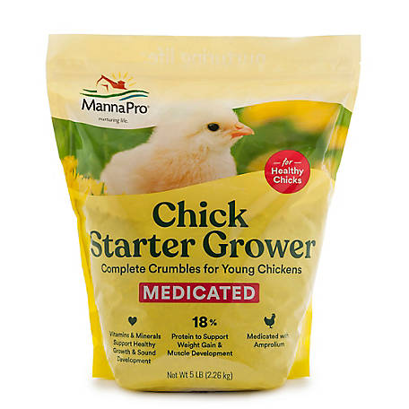 Manna Pro Medicated Chick Starter, 5 lb. Bag