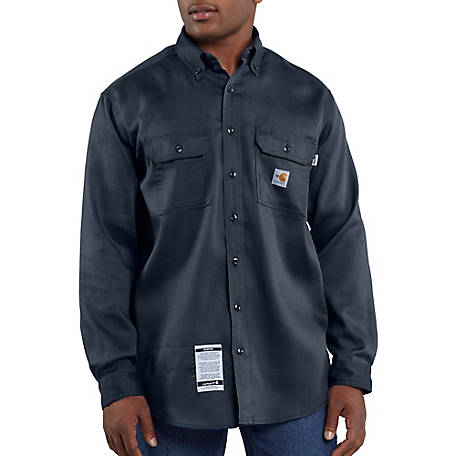 Carhartt Men S Flame Resistant Tradesman Twill Shirt At Tractor