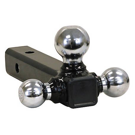 Buyers Products Tri-Ball Hitch Solid Shank with Chrome Balls