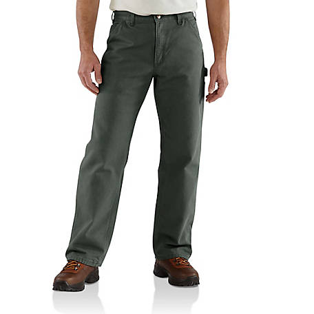Carhartt Men's Washed Duck Flannel Lined Dungaree Pants