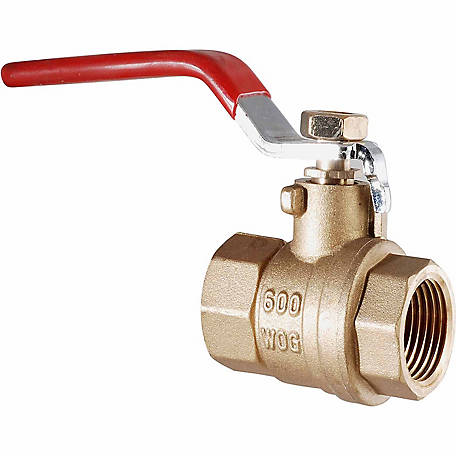 LDR 3/8 in. I.P.S. Ball Valve Full Port, Low Lead