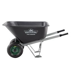 Shop GroundWork 10 cu. ft. Poly Tray Wheelbarrow at Tractor Supply Co.