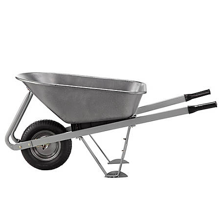 GroundWork Steel Wheelbarrow, 400 lb. Capacity, WB6024-BF