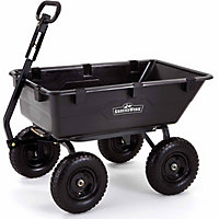 Deals on GroundWork Pro Series Poly Dump Cart, 1,400 lb. Capacity