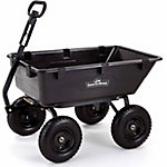 GroundWork Pro Series Poly Dump Cart, 1,400 lb. Capacity