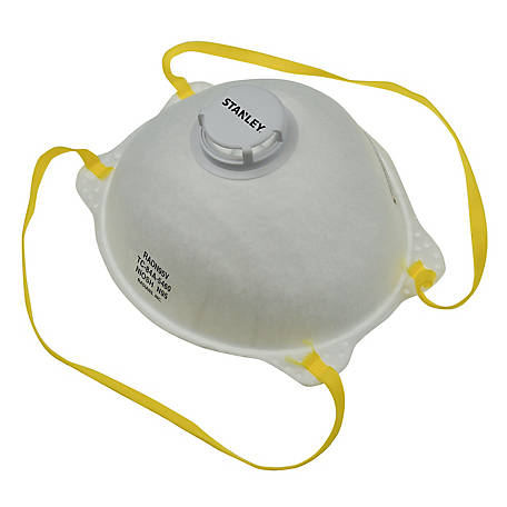 Stanley N95 Disposable Respirators with Boomerang Nose Seal and Exhalation Valve