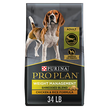 Purina Pro Plan Weight Management Dry Dog Food, SAVOR Shredded Blend Weight Management Formula, 34 lb. Bag