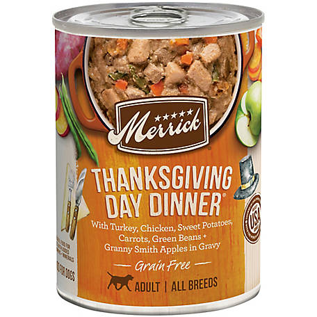 Merrick Grain Free Classic Thanksgiving Day Dinner Wet Dog Food, 12.7 oz.