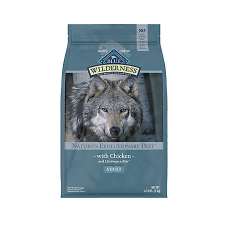 Blue Buffalo Wilderness Chicken For Adult Dogs, 4.5 lb. Bag