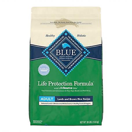 Blue Buffalo Life Protection Formula Adult Lamb & Brown Rice Recipe Dry Dog Food, 30 lb.