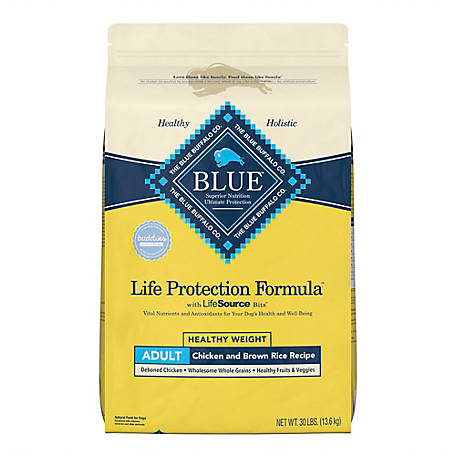 Blue Buffalo Life Protection Formula Adult Healthy Weight Chicken & Brown Rice Recipe Dry Dog Food, 30 lb.