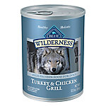 Blue Buffalo Blue Wilderness Turkey & Chicken Grill Wet Dog Food, 12.5 oz.