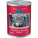 Blue Buffalo Blue Wilderness Salmon & Chicken Grill Wet Dog Food, 12.5 oz. Can