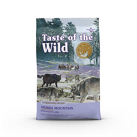 Taste of the Wild Sierra Mountain Canine Formula with Roasted Lamb Dog Food, 14 lb. Bag