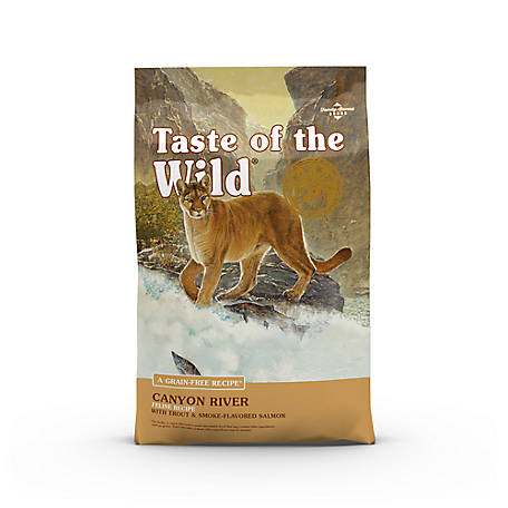 Taste of the Wild Canyon River Feline Formula with Trout & Smoked Salmon Dry Cat Food, 14 lb.