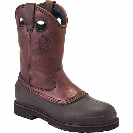 Georgia Boot Men's 11 in. Muddog Pull-On Steel Toe Comfort Core Work Boot