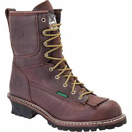239876512759 Georgia Boot Men s 8 in. Waterproof Logger Boot