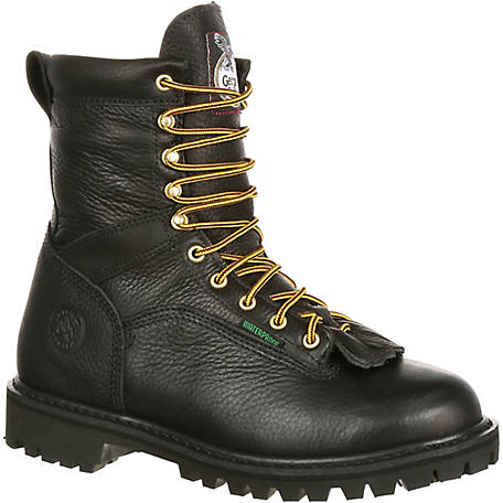 753d2e4abc0 Georgia Boot Men s 8 in. Black Loggers Waterproof Logger at Tractor ...