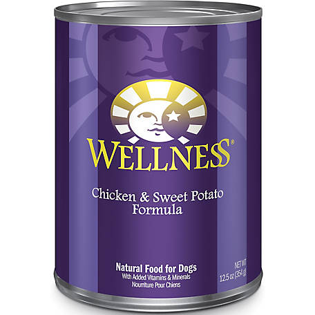 Wellness Complete Health Natural Chicken & Sweet Potato Recipe Wet Canned Dog Food, 12.5 oz.