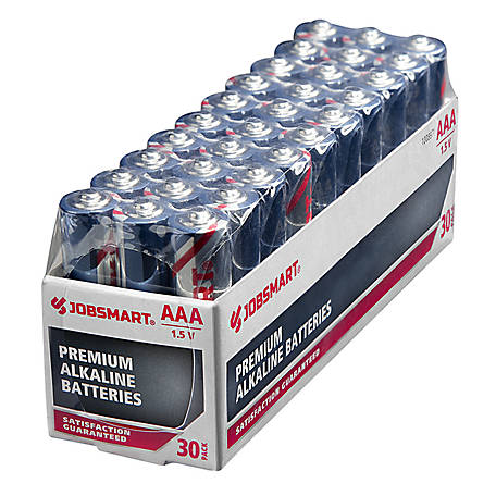 JobSmart AAA Alkaline Battery, Pack of 30, 7171-30S