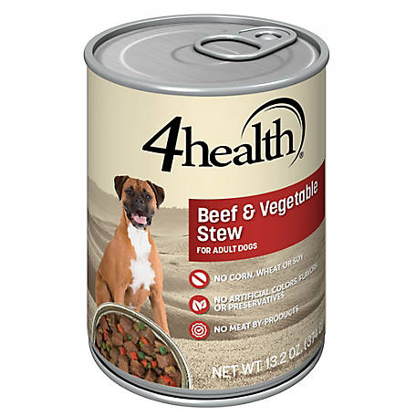 4health Original Beef & Vegetable Stew Dog Food, 13.2 oz.
