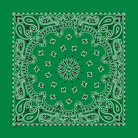 Carolina Creative Products Kelly Green Paisley Bandanna