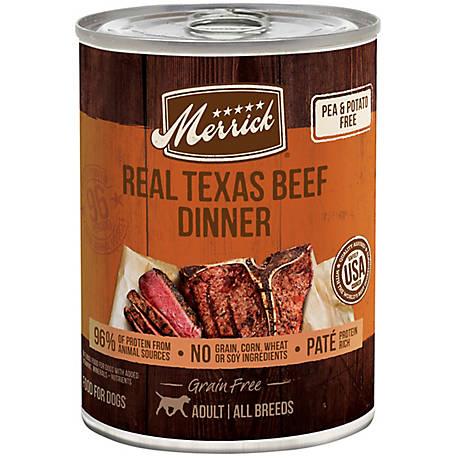Merrick Grain Free 96% Real Texas Beef Wet Dog Food