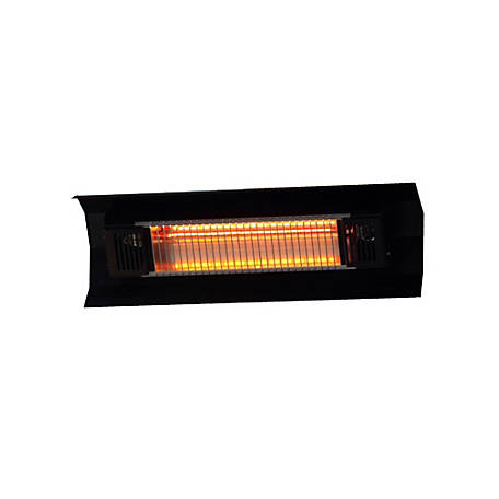 Fire Sense Wall Mounted Infrared Patio Heater, Black, 60460