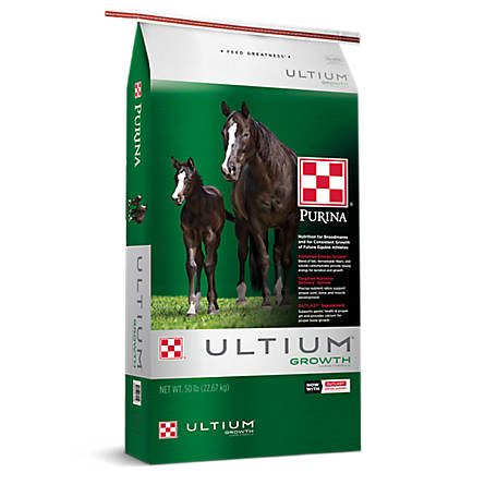 Purina Ultium Growth Formula Horse Feed, 50 lb.