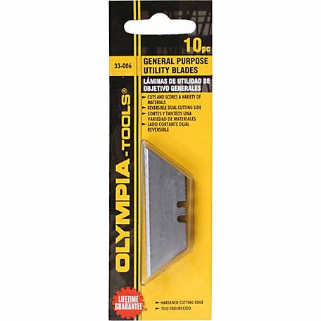 Olympia General Purpose Utility Knife Blade, Pack of 10