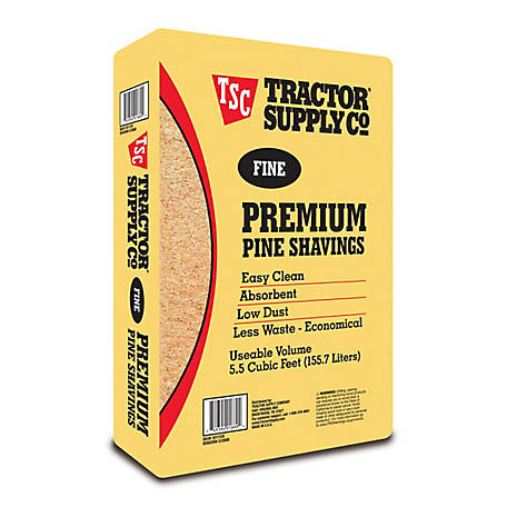 Tractor Supply Fine Premium Pine Shavings, Covers 5.5 cu. ft., 500F