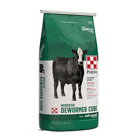 Purina Safe-Guard Cattle Cube Dewormer, 50 lb.